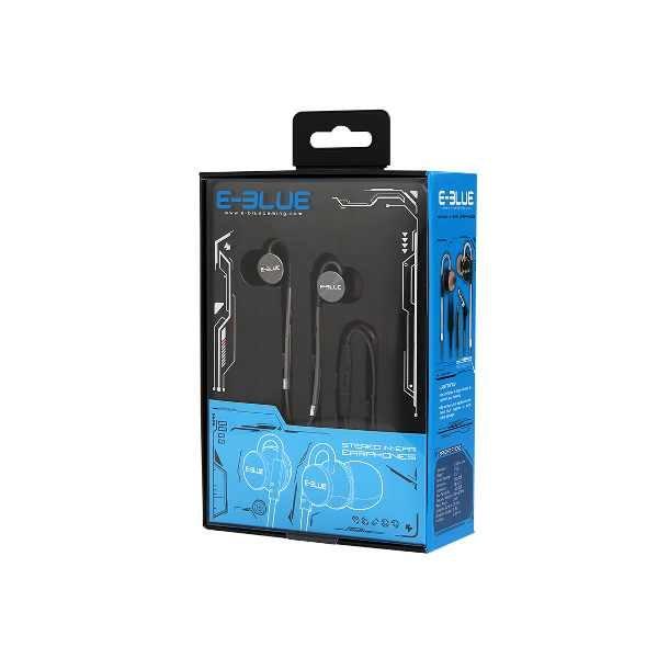 Ecouteur EBlue EEP-969 Noir avec micro Metalic