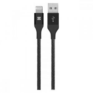 PROMATE CHARGE CABLE-LTF (Noir-Gris-Gold)