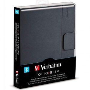 Pochette Verbatim Folio-IPAD (Blue-Gris-Rose-Vert)