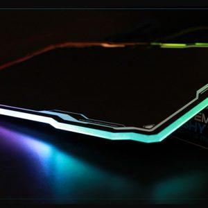 Tapis de Souris EMP-013 Noir Lumineux avec Port USB