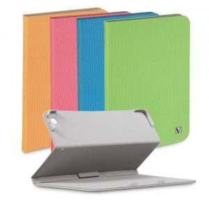 Pochette Verbatim Folio-IPAD Mini (Blue-Gris-Orange-Rose-Vert)