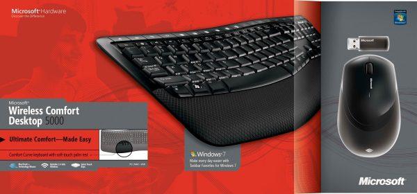Clavier Souris Microsoft 5000 Sans fil