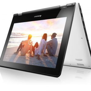 "Laptop Lenovo Yoga-300-11lBR-PENT N3710, RAM 4GB, Storage 500GB, Ecran 11""6, Windows 10, Blanc"