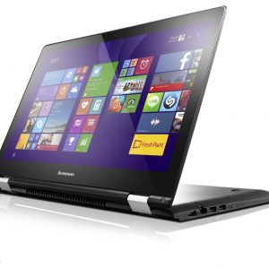 "Laptop Lenovo Yoga-500 i3-5020U, RAM 4GB, Storage 8GB SSD+HDD 500GB, Ecran 14"" Tactile, Windows 10, Blanc"