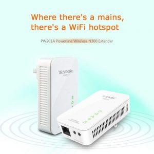 Repeteur CPL TENDA-PW201A+P200-WIWI-KIT 200Mbps/300Mbps 1LAN